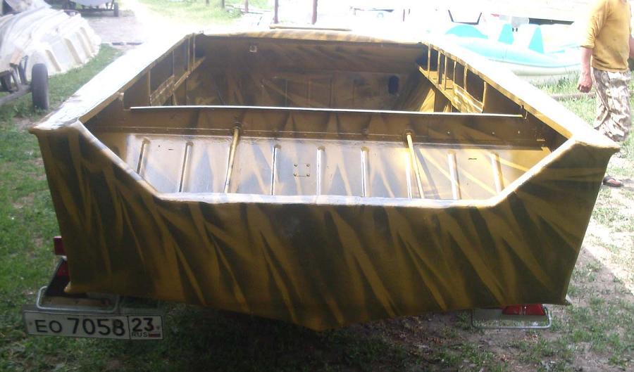 как обклеить лодку стекловолокном